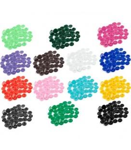150 corchetes multicolores