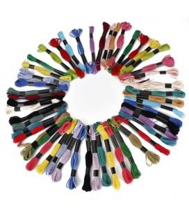 Hilo de costura para bordado y punto de cruz – 50 piezas multicolor