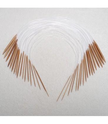 Set agujas circulares de punto - 18 agujas