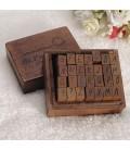 Alfabeto - Sellos de madera - 28 piezas