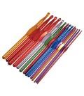 14 agujas de crochet de aluminio
