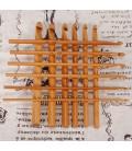12 agujas de crochet de bambú