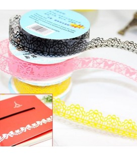10 x Lace tape para scrapbooking
