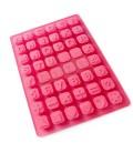 Alfabeto de silicona - Molde para fondant, bombones, jabones, FIMO