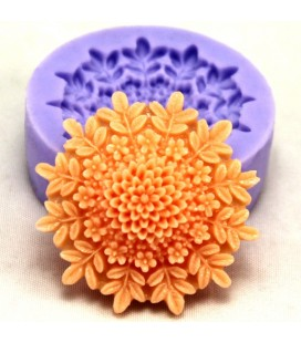 F0127 silicona flor Molde de la torta del jabón del chocolate Fondant Molde