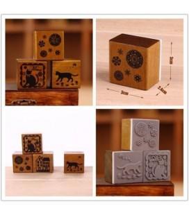 Sellos de madera para Scrapbook - Modelos Retro Vintage