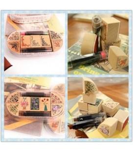 Kit de estampación - Caja con sellos y tintas