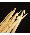 12 agujas de bambú de ganchillo tunecino