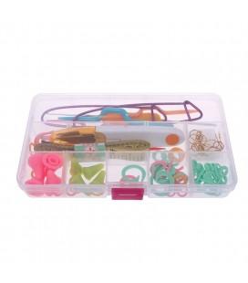 Caja de accesorios básicos para punto y ganchillo