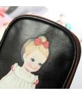 Estuche escolar o bolsa de cosméticos con motivo de muñeca vintage