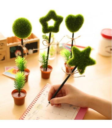 Boligrafo con forma de árbol incluida maceta - Original - Kawaii