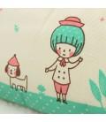 Estuche escolar - Cartera para lápices - Lunares con ilustración infantil
