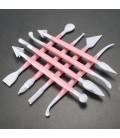 Lote de 8 herramientas para arcilla polimérica, Fondant