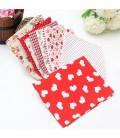 10 telas costura y patchwork - Serie roja - 45x45 cm