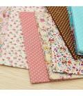 12 Telas para patchwork de diferentes colores - Cuadrantes - Retales - Costura