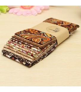 12 telas patchwork en tonos marrones y cafe - Costura - Retales