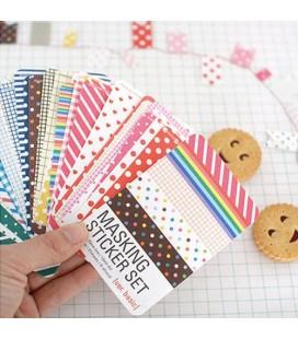Lote de 27 hojas adhesivas de papel decorativo - Masking sticker