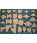 Lote de 27 plantillas para patchwork - Quilting - Acolchados - Herramientas