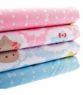 Lote de 4 telas de algodón - Hello Kitty - Coordinadas - Patchwork - Costura - Fat Quarters