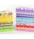 Lote de 50 telas para patchwork y quilting - Retales - Cuadrantes - Costura