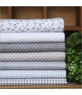 7 telas de tonos grises - Patchwork - Quilting - Costura