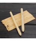 16 agujas de crochet de bambú