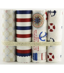 Lote de 4 telas de algodón - Marinero Set 2 - Patchwork - Costura - Fat Quarters