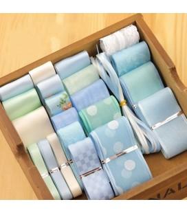 Lote de cintas Azules - Saten - Organza - Manualidades - Costura - Patchwork