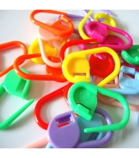 25 marcadores de vueltas de plástico para ganchillo, crochet y punto