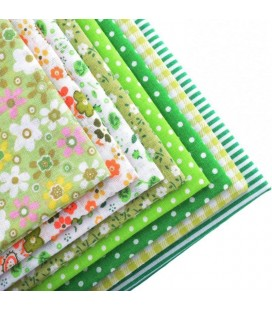 Lote de color verde- fat quarters - Telas - Manualidades  y Costura