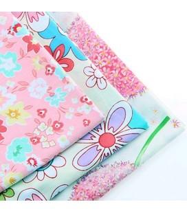 Lote de 3 telas estampadas florales - Manualidades - Costura