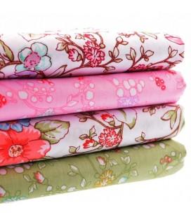 Set de 4 telas estampadas florales  - Costura - Serie 2
