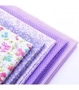 Set de 5 telas románticas en tonos violetas - Patchwork  - Costura