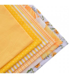 Set de 6 telas en tonos amarillos - Patchwork  - Costura