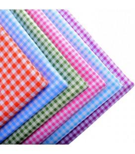 Set de 6 telas de cuadros - Patchwork  - Costura - Manualidades