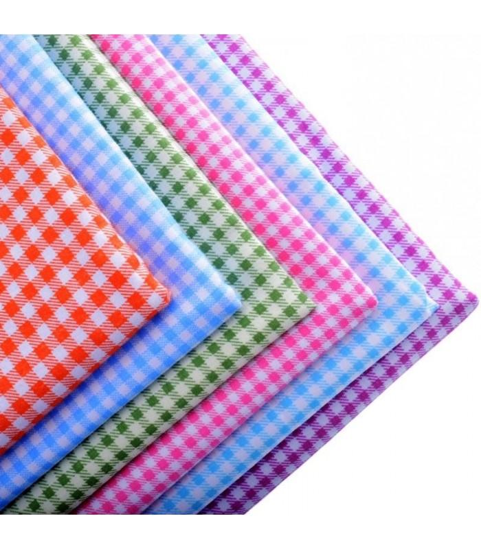 Set de 6 telas de cuadros patchwork costura comando craft - Set de costura ...