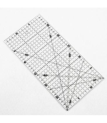 Regla Transparente para Patchwork - Herramienta de medición -Costura - 15x30cm