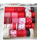 Lote de cintas Rojas - Saten - Organza - Manualidades - Costura - Patchwork