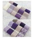 Lote de cintas lila violeta- Saten - Organza - Costura - Patchwork