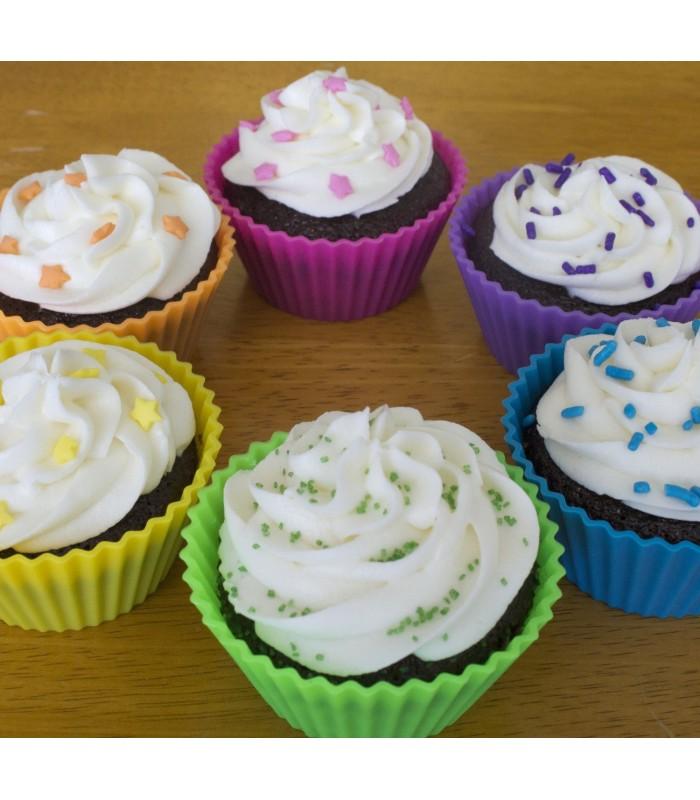 Lote de 12 moldes de silicona para magdalenas muffings cupcake comando craft - Moldes cupcakes silicona ...
