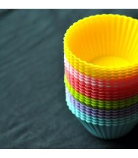 Lote de 12 moldes de silicona para magdalenas - muffings - cupcake