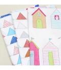 Set de 3 telas de casitas infantiles - Costura - Manualidades