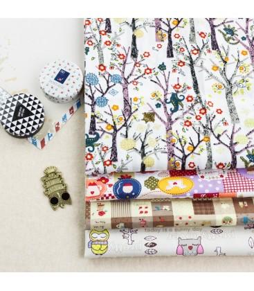 Lote de 4 telas infantiles - Patchwork  - Costura