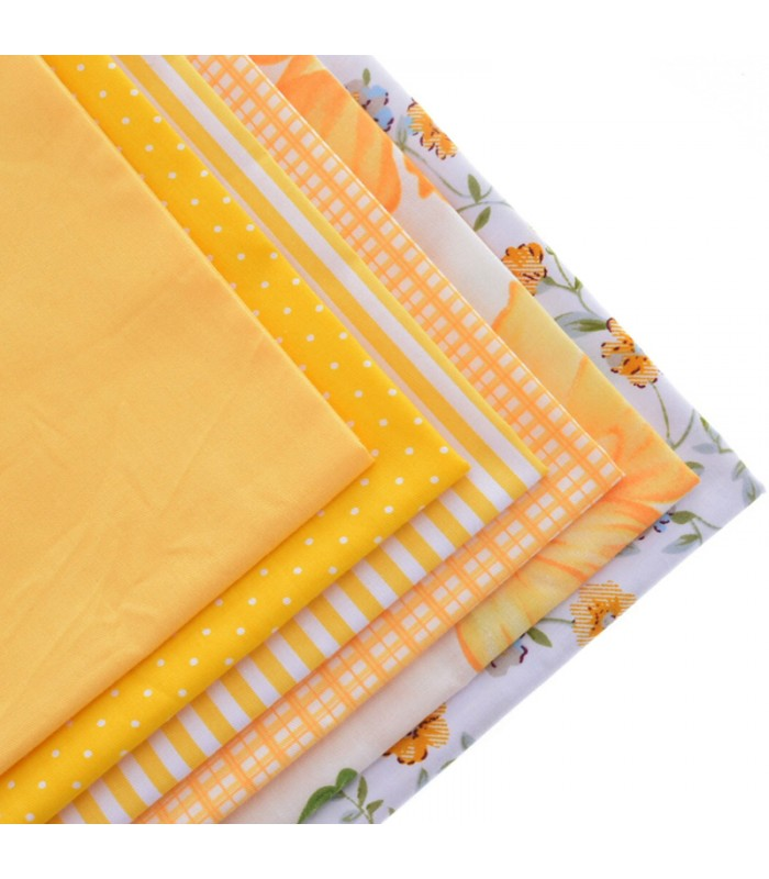 Set de 6 telas serie amarilla patchwork costura comando craft - Set de costura ...