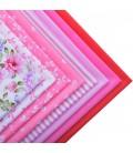 Lote de 8 telas Serie Rosa - Patchwork  - Costura