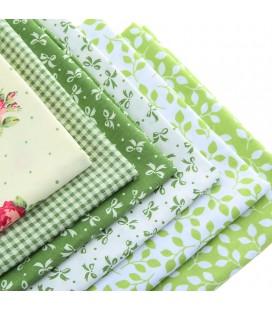 Set de 6 telas Serie Verde - Patchwork  - Costura