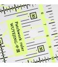 Regla Transparente para Quilting - Acolchado - Patchwork - 15x15cm