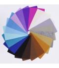 Lote de 43 colores de láminas de fieltro de 10x15cm