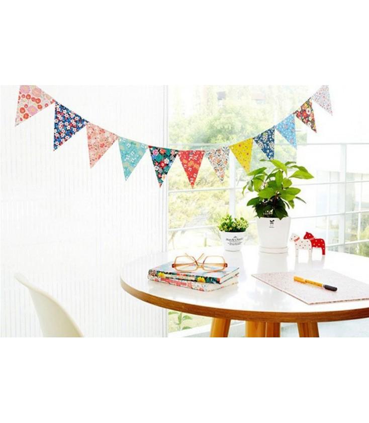 hacer banderines de papel Guirnalda De Papel Banderines Decoracin Fiestas Cumpleaos DIY