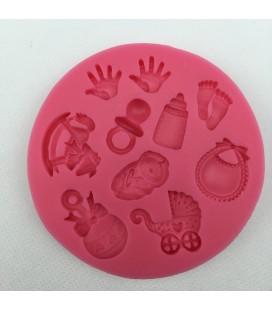 Molde de silicona - Motivos infantiles 2 - Fondant - Fimo - Sugarcraft - Jabones